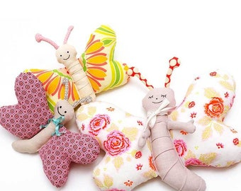 Butterfly Pattern  - PDF Sewing Instructions Plush Toy Softie