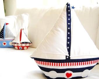 Sailboat Pattern - Sailing boat sewing instructions
