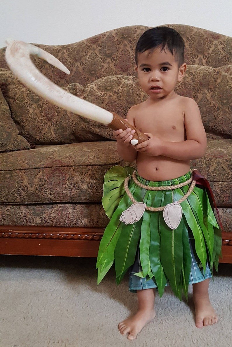 Maui Inspired Cosplay Leaf Skirt for Kids image 0