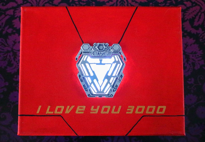 I love you 3000 Light up  LED Canvas Painting with 3d image 0