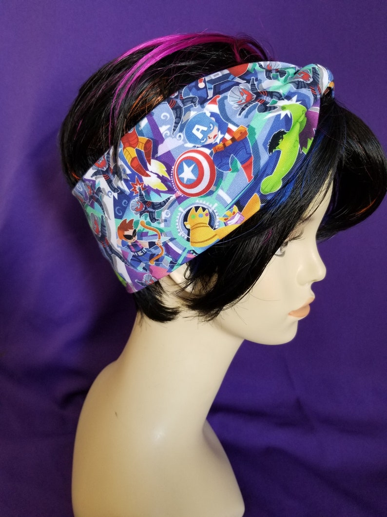 Faux knot head wrap adult sized Super Hero image 0