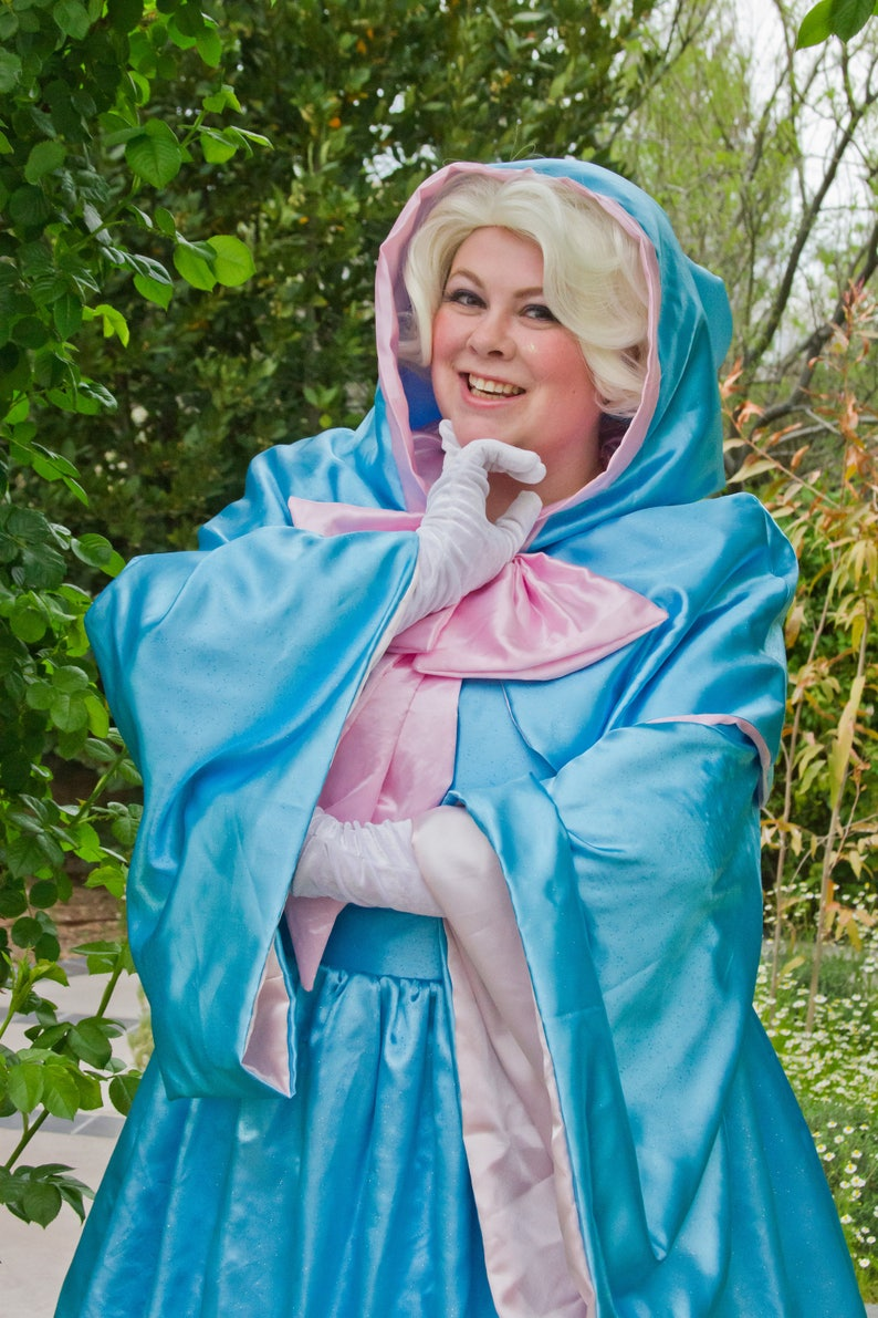 Adult size Fairy Godmother Gown and cape with hood optional image 0