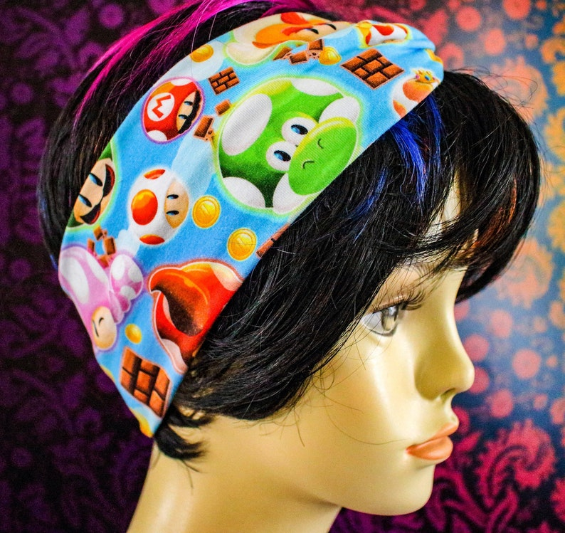 Faux knot head wrap adult sized Mario World image 0