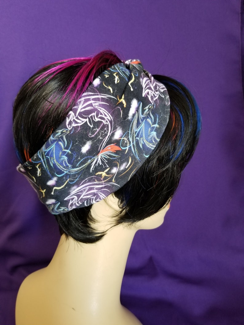 Faux knot head wrap adult sized Dragon image 0