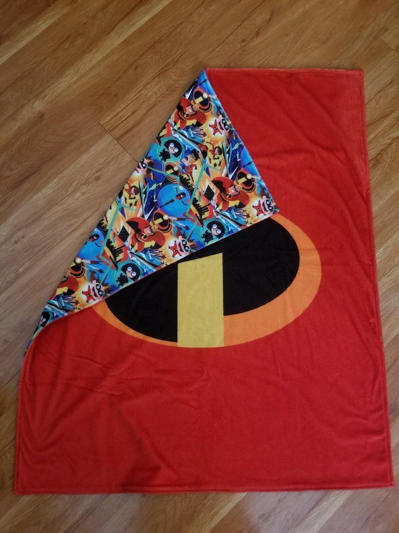 Super Soft Minky Toddler blanket Incredible Super Heroes image 0