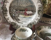 Johnson Brothers Friendly Village 5 piece place setting made in England older back mark