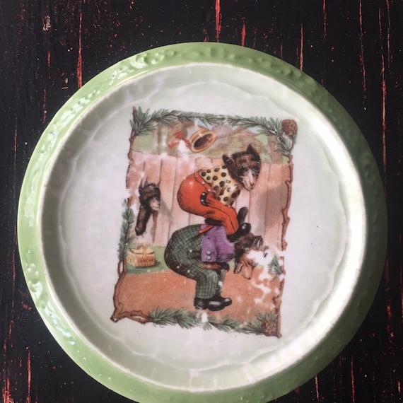 Roosevelt Bears Antique Bear Hot Plate