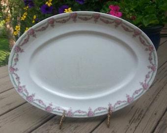 Rare John Maddock and Sons Royal Vitreous Platter,  Ironstone , made in England