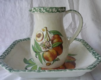Made in Italy Large Pitcher and Large Serving Dish