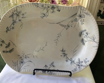 Aestheic Movement  Ironstone  Platter Rosedale Pattern by Johnson  Brothers  Made in England  late 19th Century