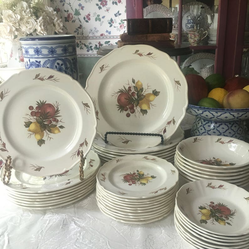 Service For 8 Wedgwood China Drury Lane Pattern Made In Etsy