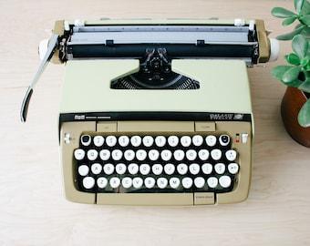Yellow Smith Corona Galaxie Twelve Working Portable Electric Typewriter