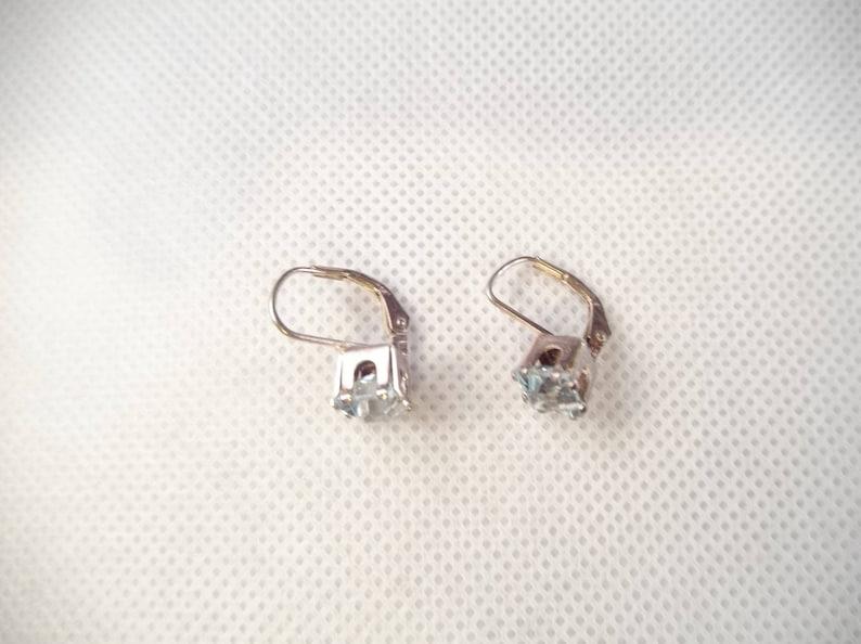 Sterling Topaz Pierced Earrings