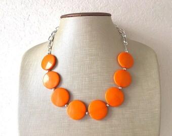 Chunky Oranges Jewelry Set