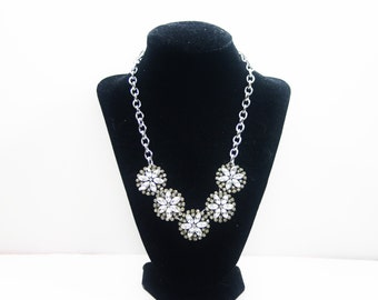 SALE! Crystal Rhinestone Pendant Necklace on a Silver Chain