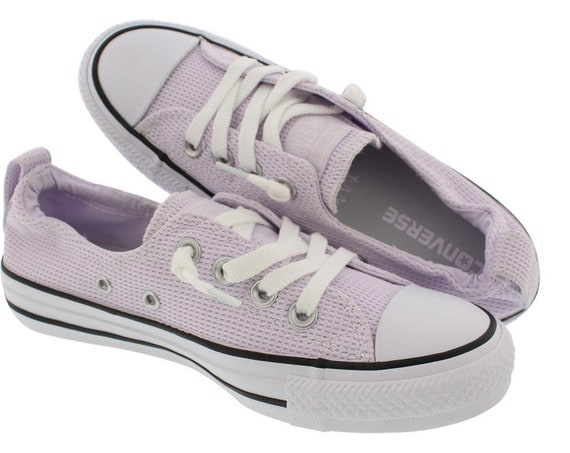 Purple Converse Lilac Lavender Grape Shoreline Wedding Slip ons Boat w/ Swarovski Crystal Bling Chuck Taylor All Star Bride Sneakers Shoes