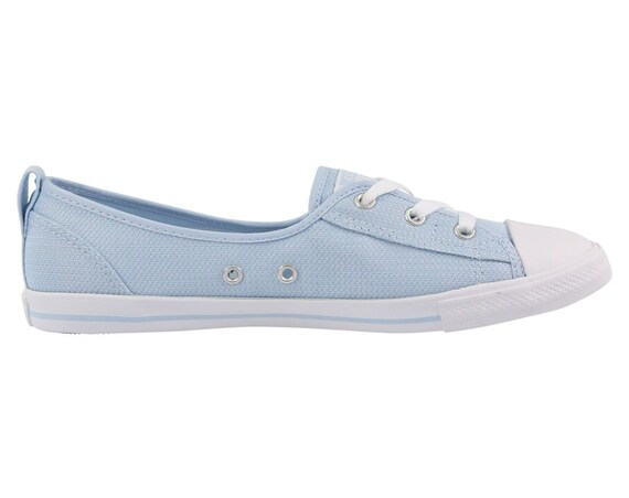Baby Blue Converse Low Slip On Ballet flat Sky Wedding Lace Bridal w/ Swarovski Crystal Chuck Taylor Rhinestone All Star Sneakers Shoe