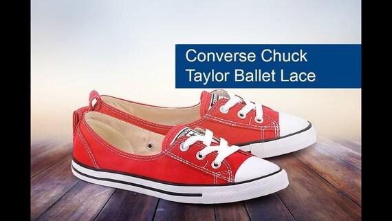Red Converse Slip on flat Low Top Ballet Lace Reception Custom Jewel w/ Swarovski Crystal Chuck Taylor All Star Bride Wedding Sneakers Shoe
