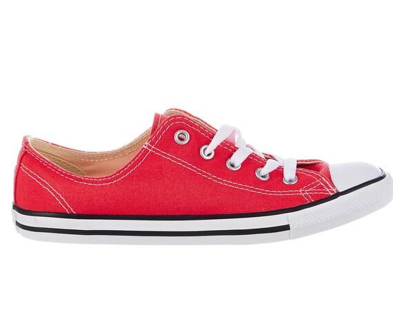 Varsity Red Converse Dainty Slip on Custom Kick w/ Swarovski Crystal Jewel Rhinestone Chuck Taylor All Star Bride Bling Wedding Sneaker Shoe