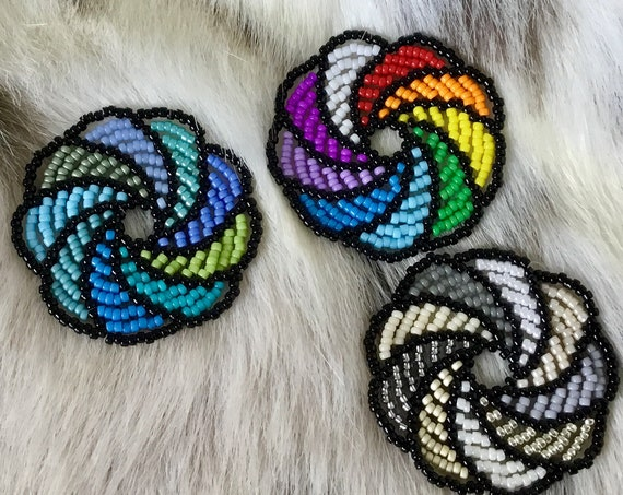 Rainbow Hoops Earrings  Pride Pinwheel Round Multicolor Drop EarWires Hook Hypo Titanium Silver Stainless Gold Seed Bead LGBTQ Jewelry Gifts