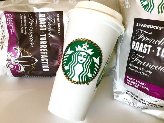 Starbucks Swag Collector Cup Autumn w/ Swarovski Crystal reuseable 16oz Grande Eco Travel Coffee Tea Tumbler mug drink Rhinestone Bling Gift