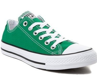 6e1d23f70ad0 Amazon Green Converse Forest Kelly Low Top Bling Custom w  Swarovski  Crystal Rhinestones Jewels Chuck Taylor All Star Wedding Sneakers Shoes