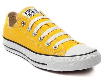 Yellow Gold Converse 70s Low Tops Sunflower Mustard Kicks w