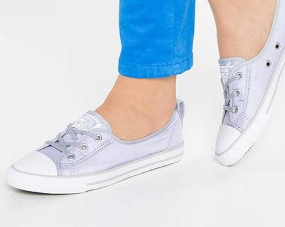 Baby Blue Converse Low Top Slip On Ballet flat Sky Wedding Lace Bridal w/ Swarovski Crystal Chuck Taylor Rhinestone All Star Sneakers Shoe