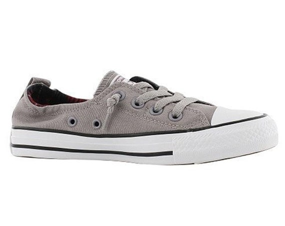 Mercury Gray Converse Shoreline Slip on Custom w/ Swarovski Crystal Rhinestone Jewel Bling Grey Chuck Taylor All Star Wedding Sneakers Shoes