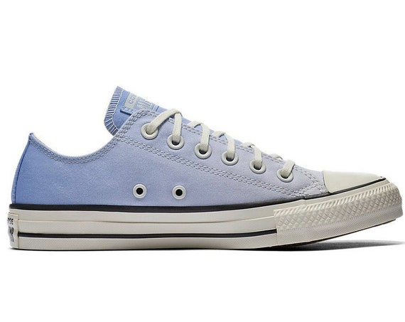 Light Blue Converse Low Ombre wash Sky Robin Egg Canvas w/ Swarovski Crystal Chuck Taylor Rhinestone All Star Wedding Sneakers Bridal Shoe