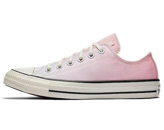 b753469c691a3f ... Pink Converse Low Ombre wash Blush Canvas Custom Kicks w  Swarovski  Crystal Chuck Taylor Rhinestone