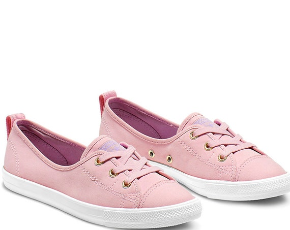 Plum Purple Converse Rose Lilac Gold Low Slip On Ballet Lace Pink Lavender w/ Swarovski Crystal Chuck Taylor Ladies Wedding Sneakers Shoes