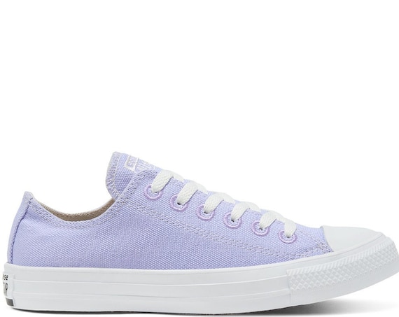 Violet Purple Converse Renew Low ECO Lavender Lilac Bridal w/ Swarovski Crystal Rhinestones Bride Chuck Taylor All Star Wedding Sneaker Shoe