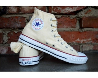 8918aa99c5884b Ivory Converse High Tops Canvas Cream Off White Beige w  Swarovski Crystal  Rhinestones Chuck Taylor All Star Bridal Sneakers Wedding Shoes