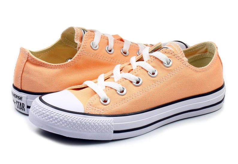 Gold Sunset Swarovski Crystal Custom Peach Sneakers Kicks Shoes All Low Apricot Top Converse Bling Star Wedding Rhinestone Taylor Rose Chuck 8wX0NnOkP
