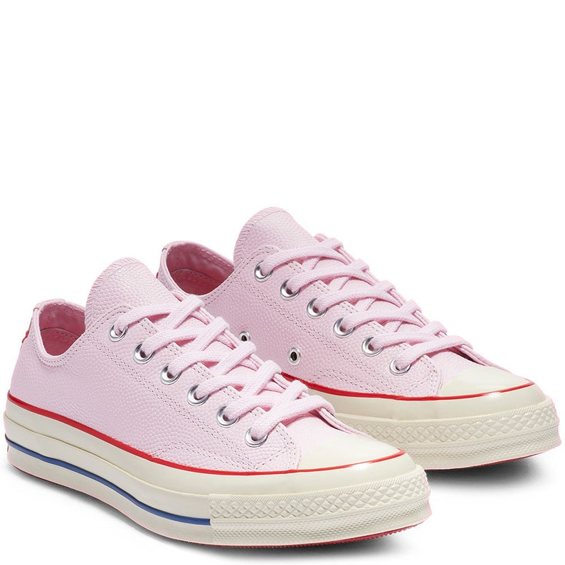 ae9d1b531a83 Pink Converse Leather Foam Red Low Top Chuck Taylor All Star