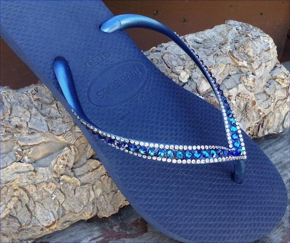 navy crystal havaianas