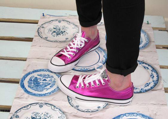 e71e6d7becb Hot Pink Converse Low Top Fuchsia Magenta Wedding Chuck Taylor ...
