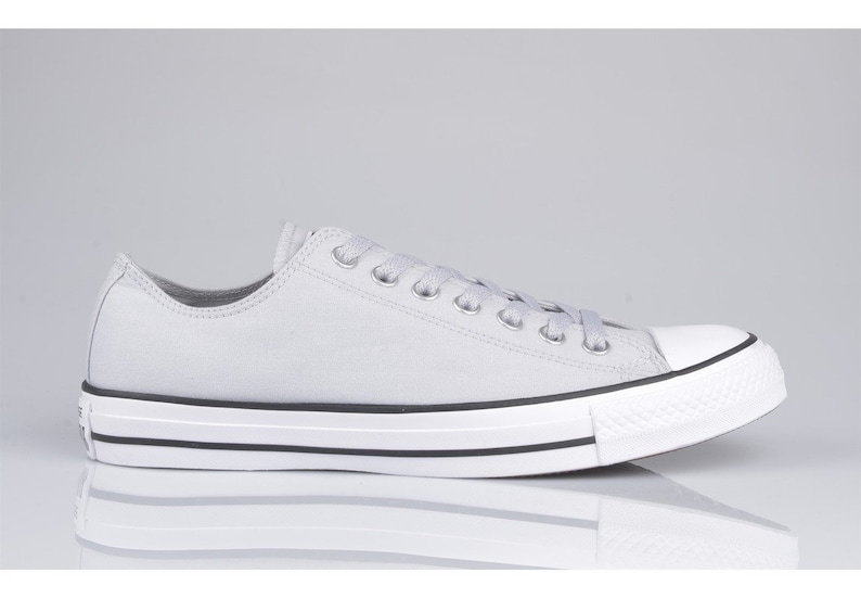 677e8ef4caeb Gray Converse Grey Mono Crystal Silver Chrome Low Top Canvas