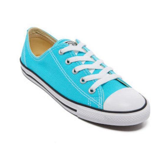 d5458bf2c3b1 ... Blue Converse Dainty Turquoise Aqua Custom Bridal Wedding Slip Ons Kicks  w  Swarovski Crystal Bling