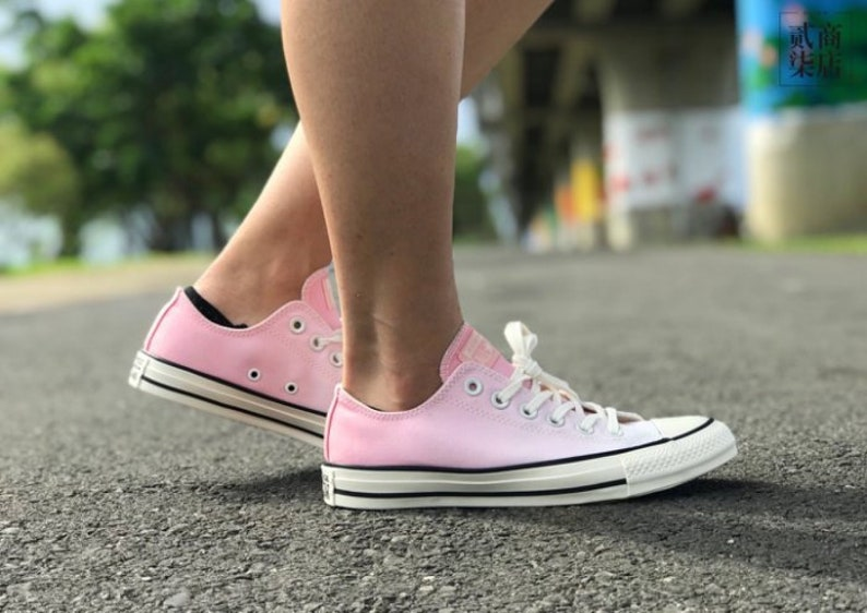 Pink Converse Low Ombre wash Blush Canvas Custom Kicks w   9f4541b4c42d