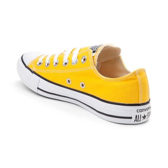 Yellow Converse Low Top Summer Lemon Custom w Swarovski Crystal Rhinestone Bling Kicks Chuck Taylor All Star Bridal Wedding Sneakers Shoe