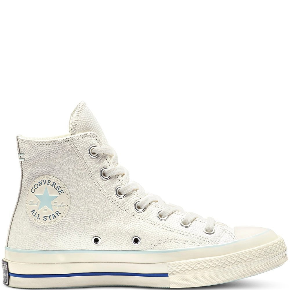 Baby Blue White Converse High Tops Leather Vintage 70s Custom Chuck Taylor  Kicks w  Swarovski Crystal Jewels All Star Wedding Sneakers Shoes 737b2aabb313