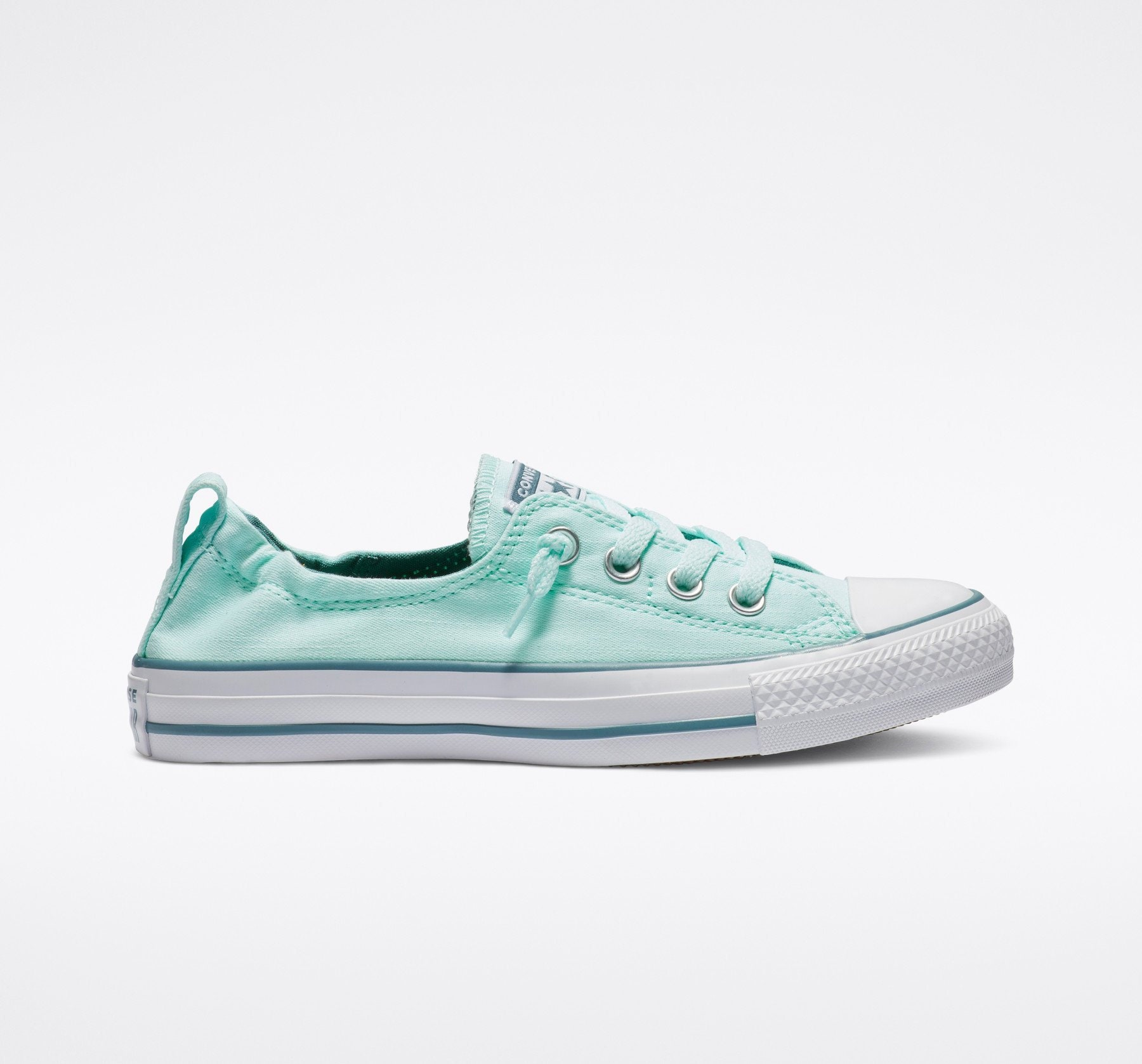 4fd635252013ba Aqua Teal Blue Converse Low Top Shoreline Turquoise Slip on Custom w  Swarovski  Crystal Rhinestone Chuck Taylor Bride Wedding Sneakers Shoes