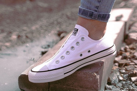 Slip on White Converse Mono Laceless