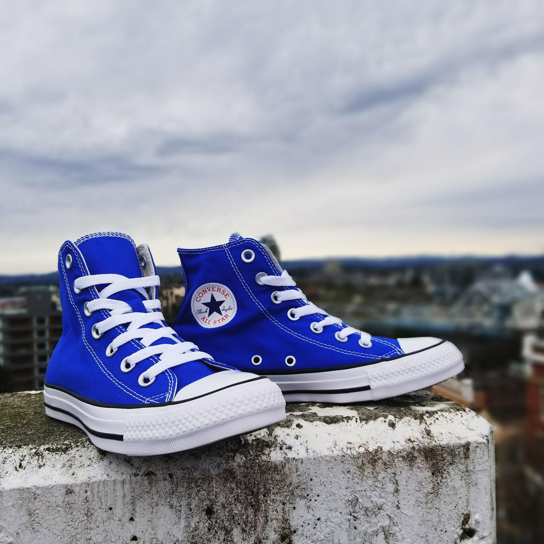 c83e2386a9ba9 Royal Blue Converse Wedding High Tops Custom Crystal Bling Chuck ...
