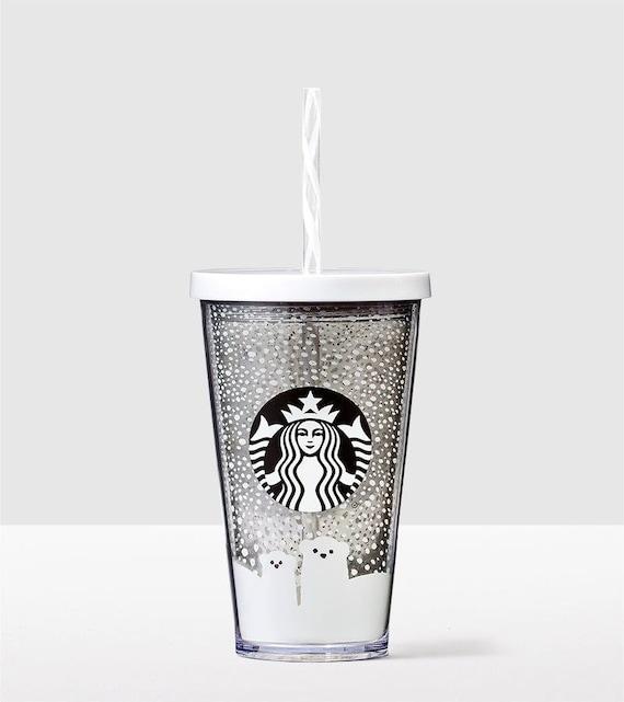 Starbucks Cold Cup Smoothie Custom Crystal Polar Bear Drink To Etsy
