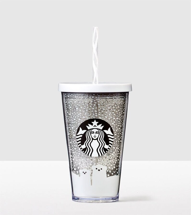 5598d178751 Starbucks Cold Cup Smoothie Custom Crystal Polar Bear Drink To Go w/  Swarovski Grande 16 oz Acrylic Travel Tumbler Snowflake Rhinestone Mug