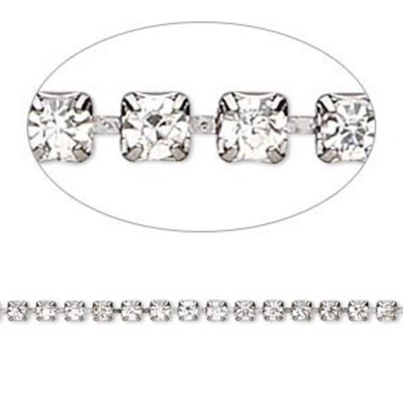 Crystal Rhinestone Tennis Bracelet Clear Diamond Bling Silver tone Custom Wedding Jewelry Bridal Bridesmaid Flowergirl Gift Ladies