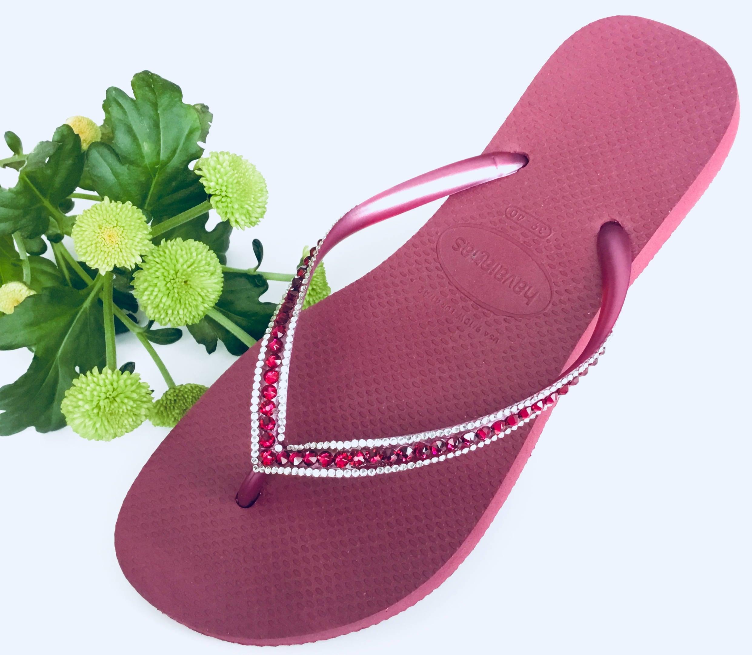 e153b42f30fb Pink Havaianas Slim Flip Flops Beet Ruby Red Raspberry Fuchsia